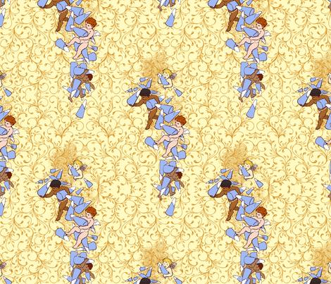 Cherubs with Sugar Cones fabric by muddyfoot on Spoonflower - custom fabric
