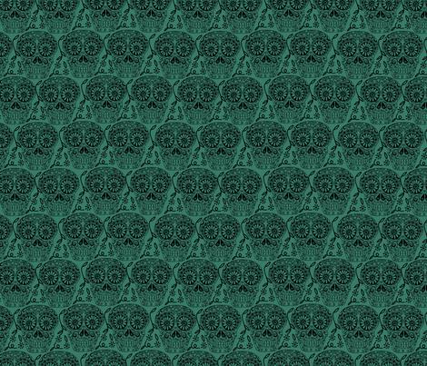 Sugar Skulls fabric by marlene_pixley on Spoonflower - custom fabric