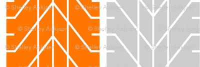 Bike Tread Orange Grey Small