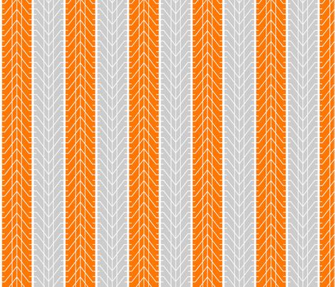 Bike Tread Orange Grey Small fabric by shelleymade on Spoonflower - custom fabric