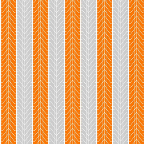 Bike Tread Orange Grey Small