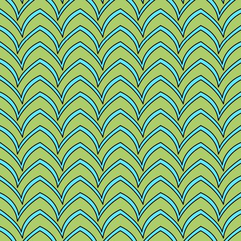 Flying Stripe  - Turquoise Celadon fabric by glimmericks on Spoonflower - custom fabric