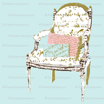 A French Chair with Pillows