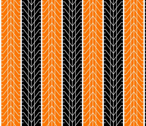 Bike Tread Orange Black fabric by shelleymade on Spoonflower - custom fabric
