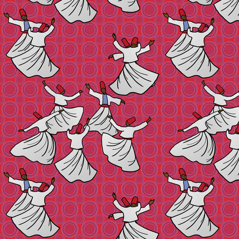 Whirling Dervish Competition, 1967 by Su_G fabric by su_g on Spoonflower - custom fabric