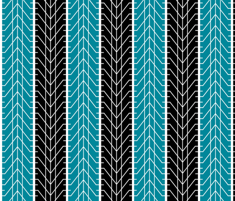 Bike Tread Teal Black fabric by shelleymade on Spoonflower - custom fabric