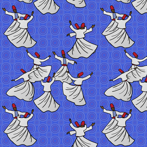 Whirling Dervish Competition, 1966 fabric by su_g on Spoonflower - custom fabric