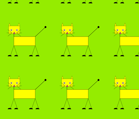 Cat fabric by alexsan on Spoonflower - custom fabric