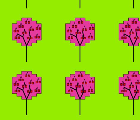 Cherry tree fabric by alexsan on Spoonflower - custom fabric