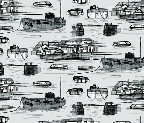 Mousehole fabric by scrummy on Spoonflower - custom fabric
