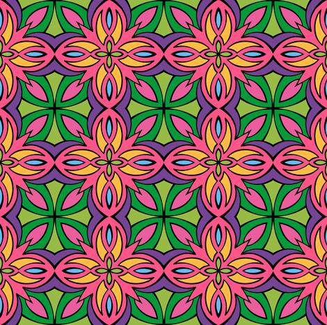 Insanis Flores part three fabric by samvanvoorst on Spoonflower - custom fabric