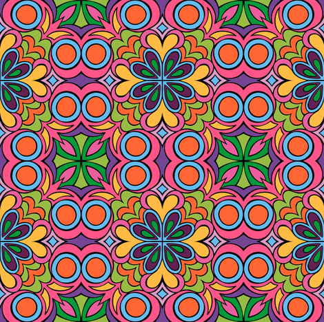Insanis Flores part one fabric by samvanvoorst on Spoonflower - custom fabric