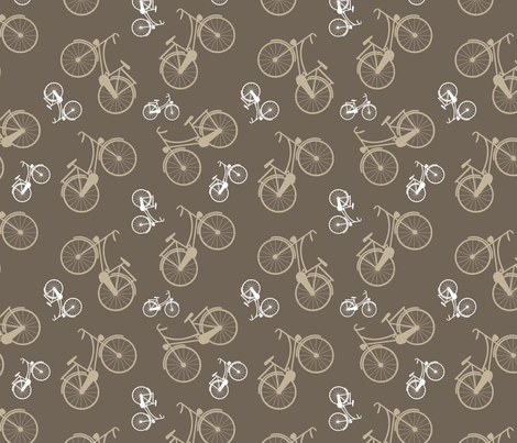 Vintage bicycles fabric by martinaness on Spoonflower - custom fabric