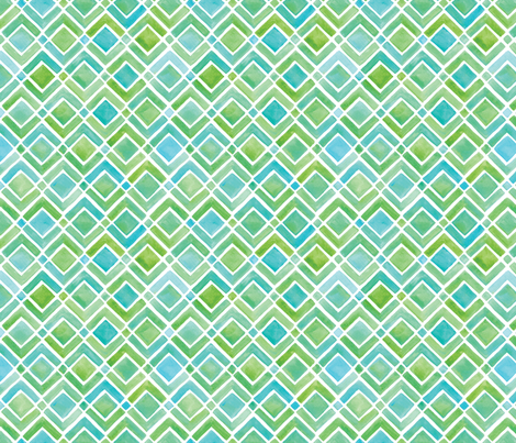 Limeade Geometric fabric by wildnotions on Spoonflower - custom fabric