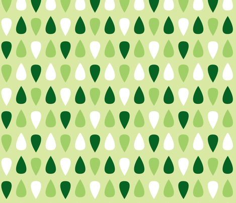 Gouttes vertes fabric by petitspixels on Spoonflower - custom fabric