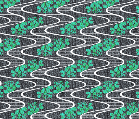 Urban Meanderings - Turquoise Splash fabric by glimmericks on Spoonflower - custom fabric