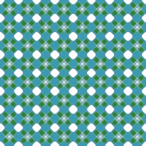 Hugs___Kisses_Plaid__-green_-teal fabric by fireflower on Spoonflower - custom fabric
