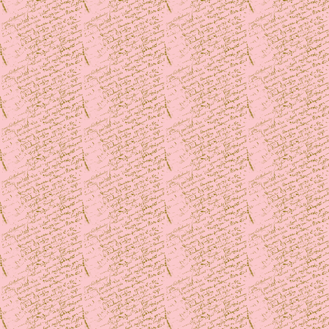 French Script Pink Dollhouse fabric by karenharveycox on Spoonflower - custom fabric