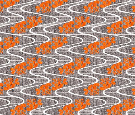 Urban Meanderings - Orange Splash fabric by glimmericks on Spoonflower - custom fabric