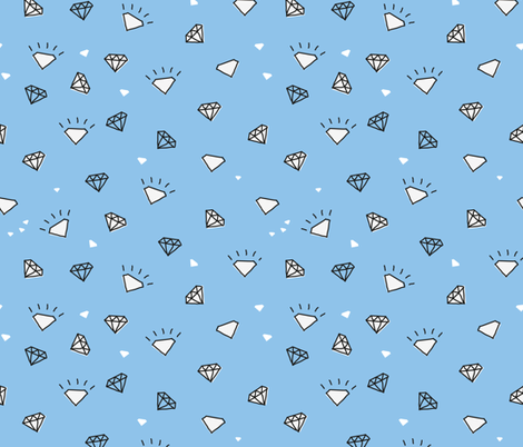ditsy diamonds_pale blue fabric by owls on Spoonflower - custom fabric