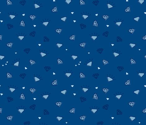 ditsy diamonds_dark blue fabric by owls on Spoonflower - custom fabric