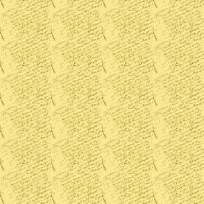 French Script Lemon Yellow Dollhouse