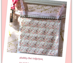 Shabby Chic roses and French Script Dollhouse