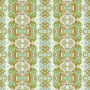 Blue/Green Minuet Vertical Stripe
