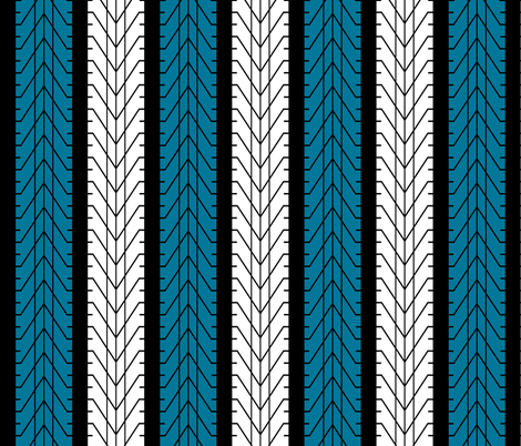 Bike Tread Nearly Chevron! fabric by shelleymade on Spoonflower - custom fabric