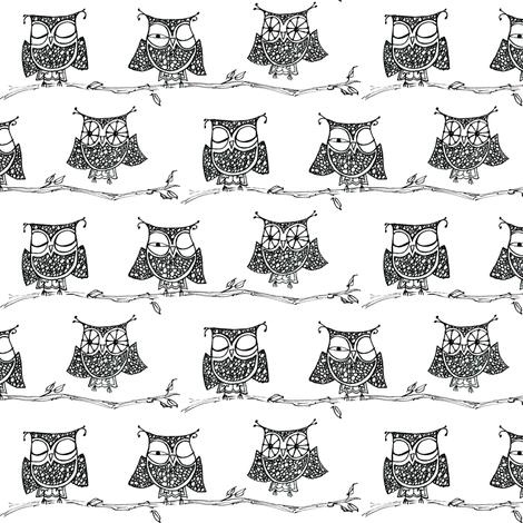 Wake-up Owls! fabric by cheeseandchutney on Spoonflower - custom fabric
