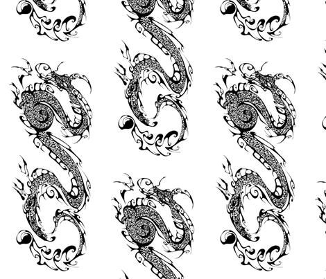 New Inkblot Dragon fabric by art_rat on Spoonflower - custom fabric