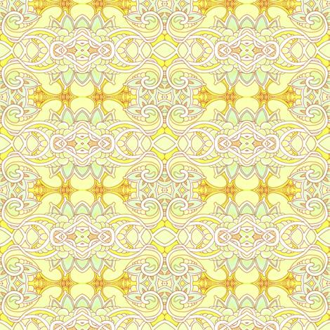 Yellow Filigree  fabric by edsel2084 on Spoonflower - custom fabric