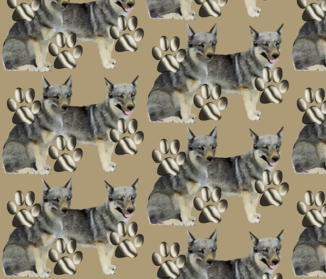 Swedish Valhund  fabric by dogdaze_ on Spoonflower - custom fabric