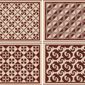 Four Red and White Quilt Classics from BlockFab