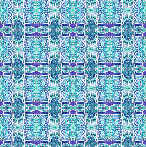 Mutant Blue Square Plaid fabric by edsel2084 on Spoonflower - custom fabric