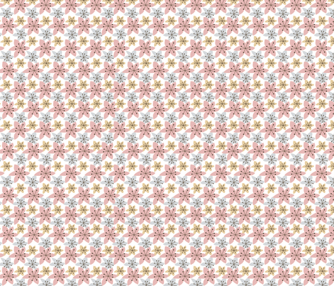 Floral Garden Pink fabric by fabricdrawer on Spoonflower - custom fabric