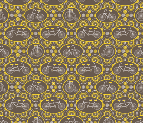 Olde Timey Cycles fabric by robyriker on Spoonflower - custom fabric