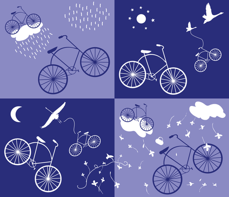 Flight_of_the_Bicycles_ fabric by paloma_le_sage on Spoonflower - custom fabric