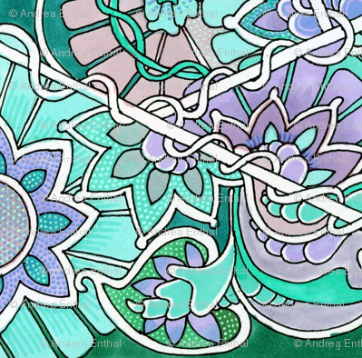 Pastel Hexagon Garden