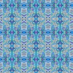 Blue Ovals Nouveau