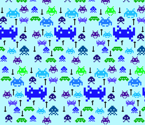 space invaders fabric by annekul on Spoonflower - custom fabric