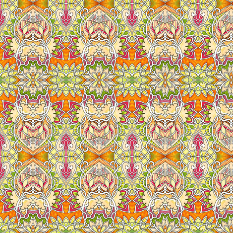 A Touch of India fabric by edsel2084 on Spoonflower - custom fabric