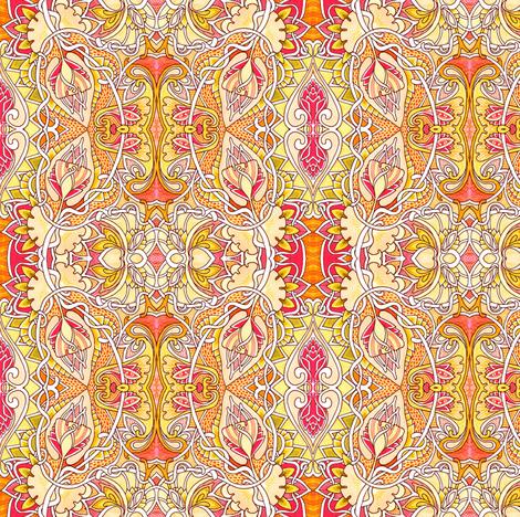 My Heart Belongs to Summer fabric by edsel2084 on Spoonflower - custom fabric
