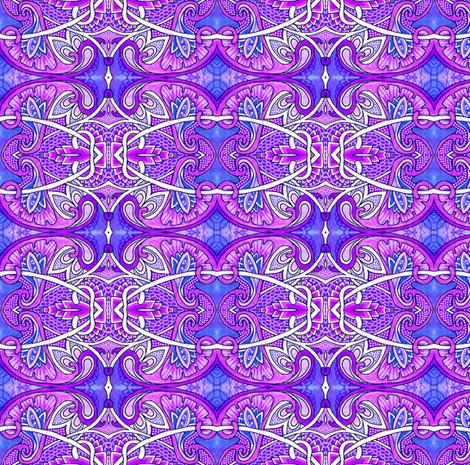 Purple Victorian Fantasy fabric by edsel2084 on Spoonflower - custom fabric