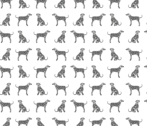 Dalmatians in black fabric by pininkie on Spoonflower - custom fabric