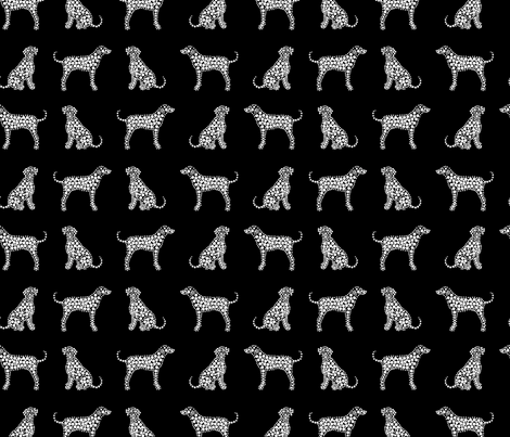 Dalmatians in white fabric by pininkie on Spoonflower - custom fabric