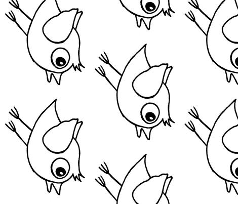 vogel_sliert_en_nest fabric by swannen on Spoonflower - custom fabric