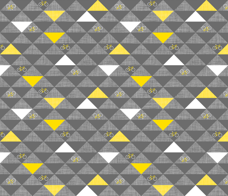 Le Tour Triangles Grey fabric by zesti on Spoonflower - custom fabric