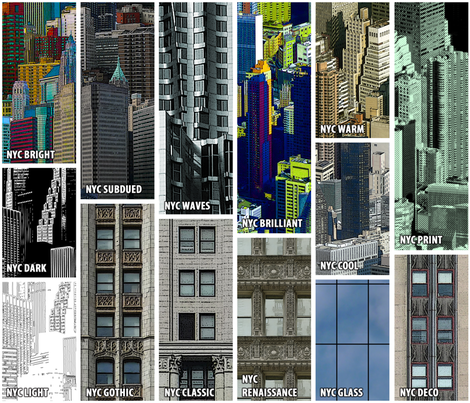 NYC Collection Sampler fabric by chris on Spoonflower - custom fabric