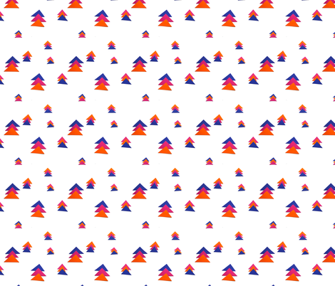 triangle trees fabric by studiojelien on Spoonflower - custom fabric